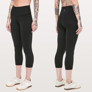 Lululemon Wunder Under High Waisted Crop Leggings